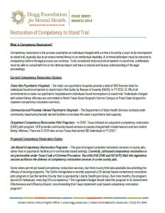 Competency Restoration Brief Cover