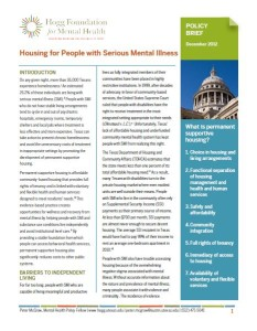 Housing for people with serious mental illness cover