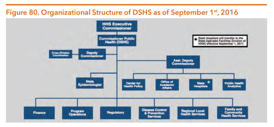 Organizational Structure of DSHS