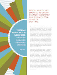 mental health workforce shortage
