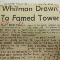 News clipping about Charles Whitman