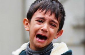 A little boy crying