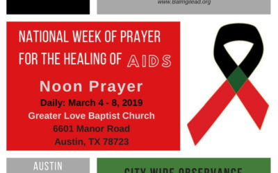 EVENT | National Week of Prayer for the Healing of AIDS, 3/3 – 3/9/19
