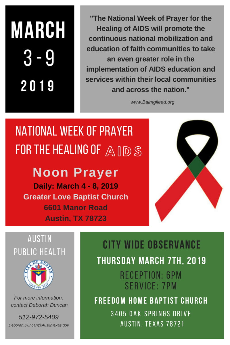 EVENT | National Week of Prayer for the Healing of AIDS, 3/3