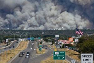 Photo of the Bastrop, Texas fire