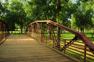Photo of the historic Goodman Bridge.