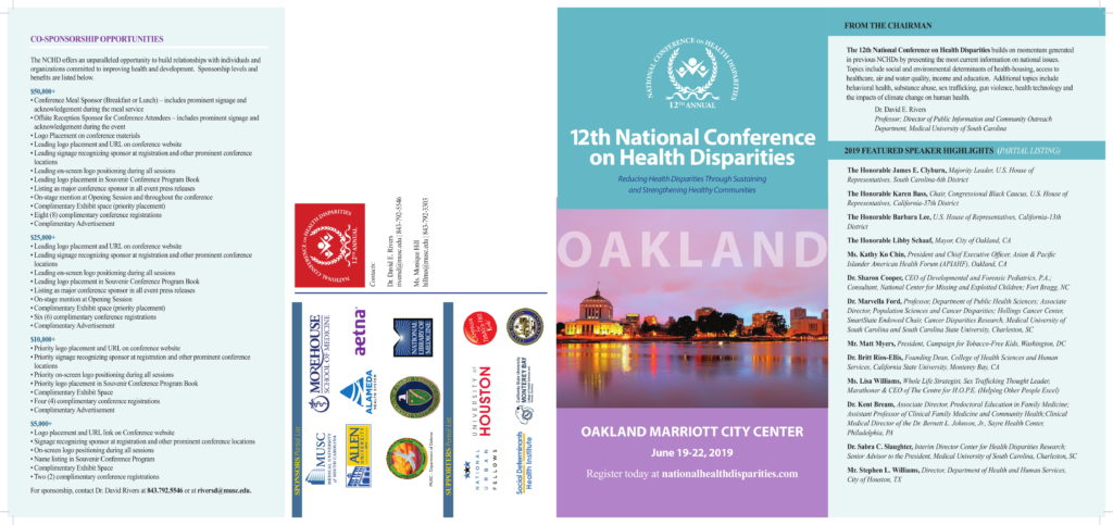 12th National Conference on Health Disparities brochure 1