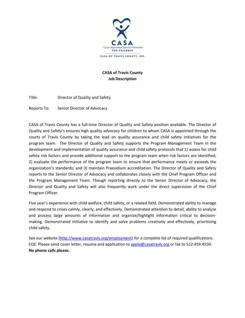 CASA job posting