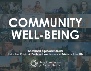 """Photo collage with the words """"community well-being"""" on it"""