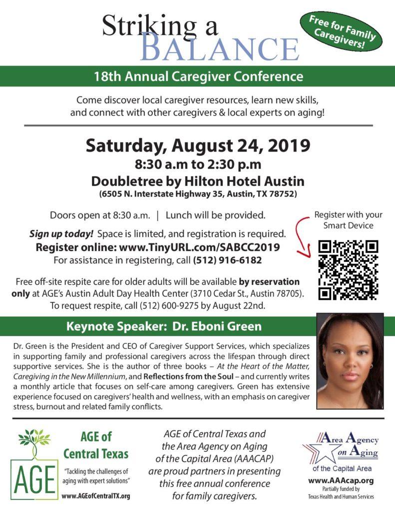 Caregiver conference flyer