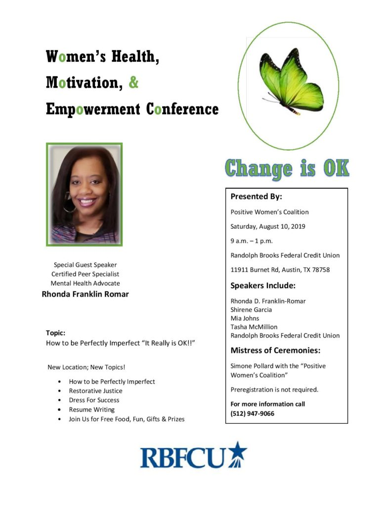 Flyer for Women's Health conference