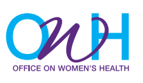 purple and blue logo for office on women's health