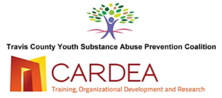 logo for travis county youth substance abuse prevention coalition and Cardea training, organizational development and research