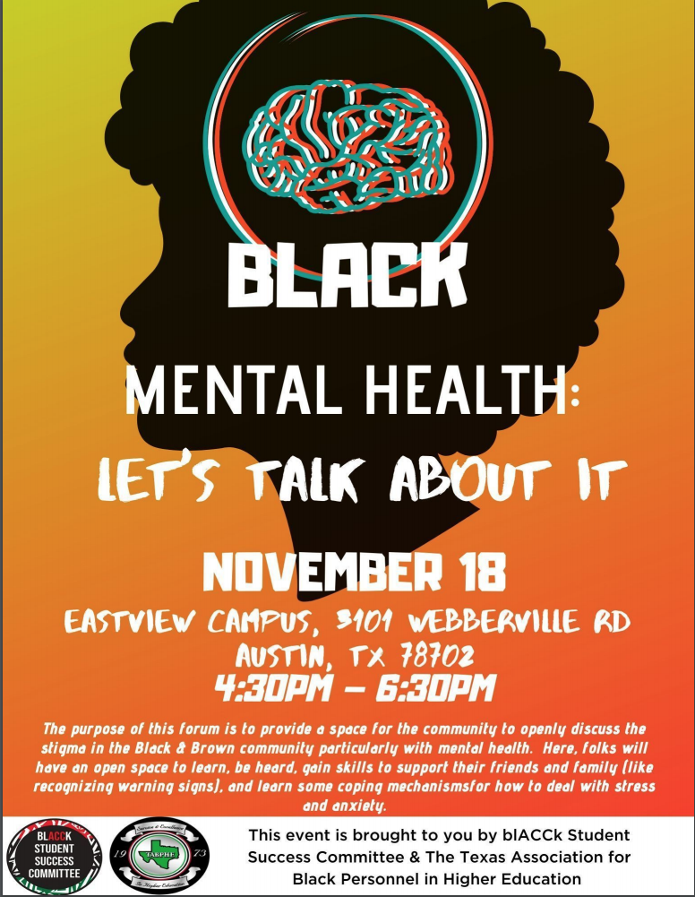 Flyer for Black Mental Health event.
