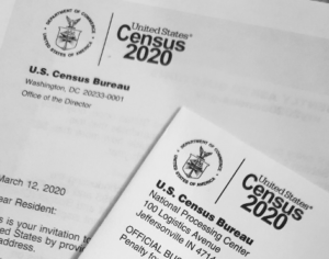 Photo of the 2020 Census forms