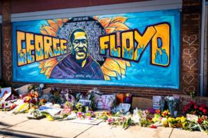 Photo of George Floyd anti-racial violence mural