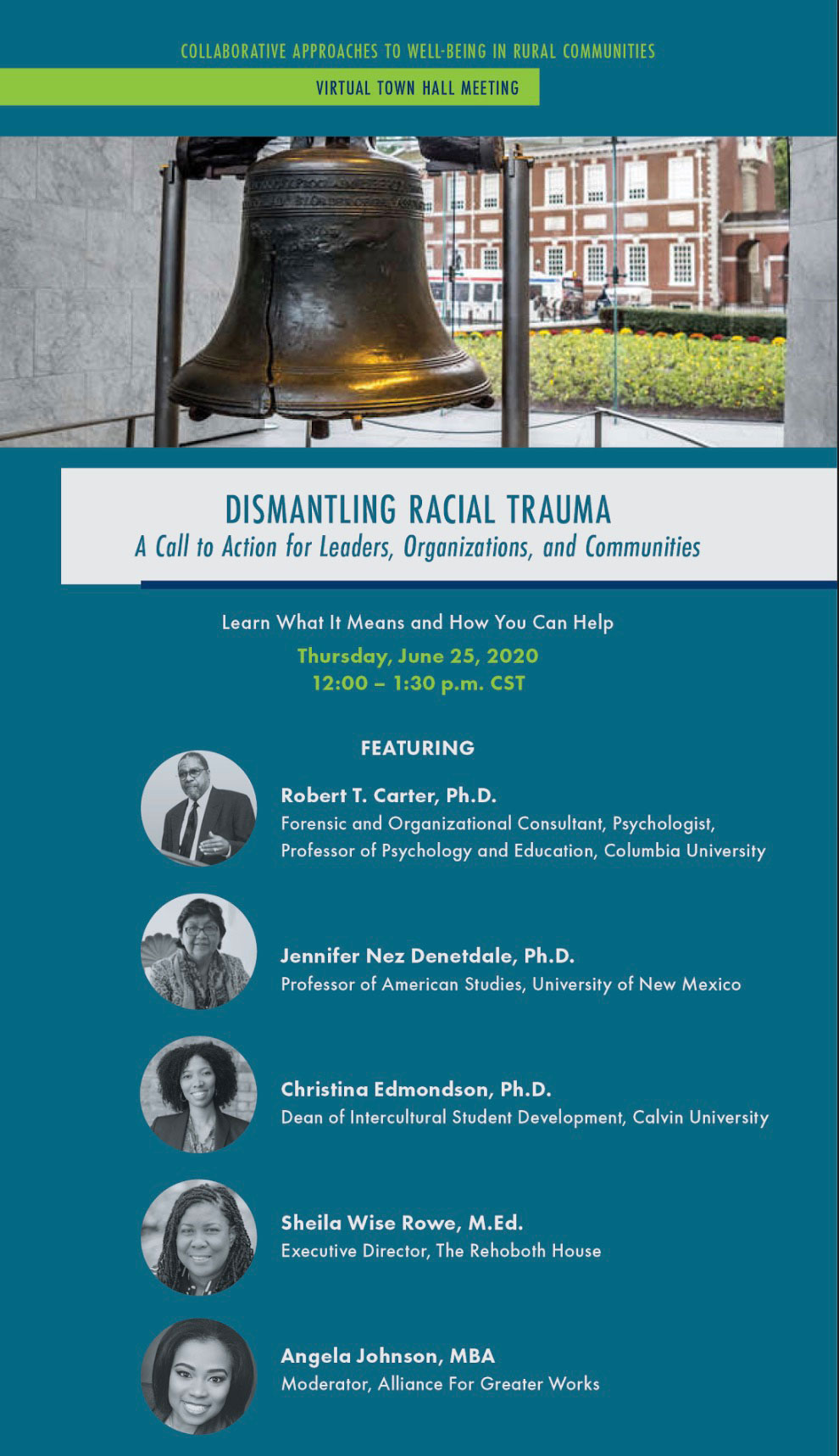 flyer for dismantling racial trauma town hall flyer