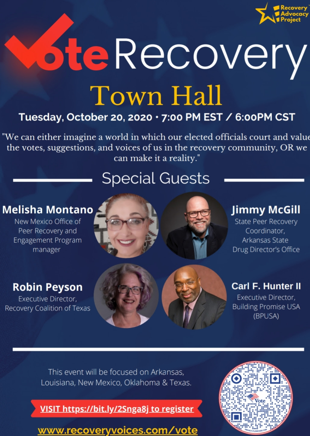 vote recovery town hall flyer