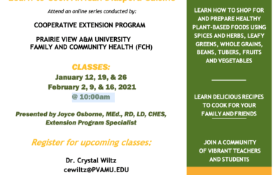 A Taste of African Heritage – Classes Begin Tuesday January 12, 2021