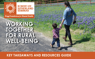 Resources from the Working Together for Rural Well-being Seminar