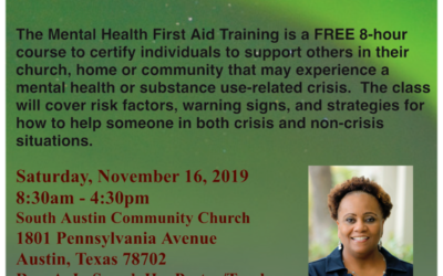 EVENT | Free Mental Health First Aid Training- Tomorrow, Saturday 11/16