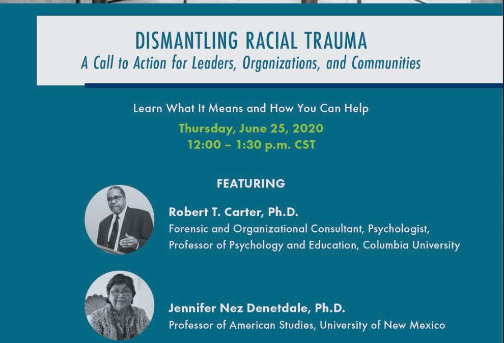 Virtual Town Hall: Dismantling Racial Injustice 6/25