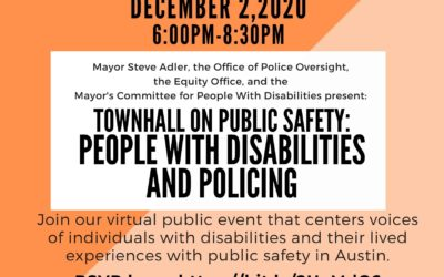 EVENT | Townhall for People with Disabilities, 12/2/20 at 6:00 PM