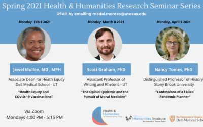 """Health & Humanities Research Seminar with Dr. Jewell Mullen on """"Health Equity and COVID-19 Vaccinations"""" (2/8/21)"""