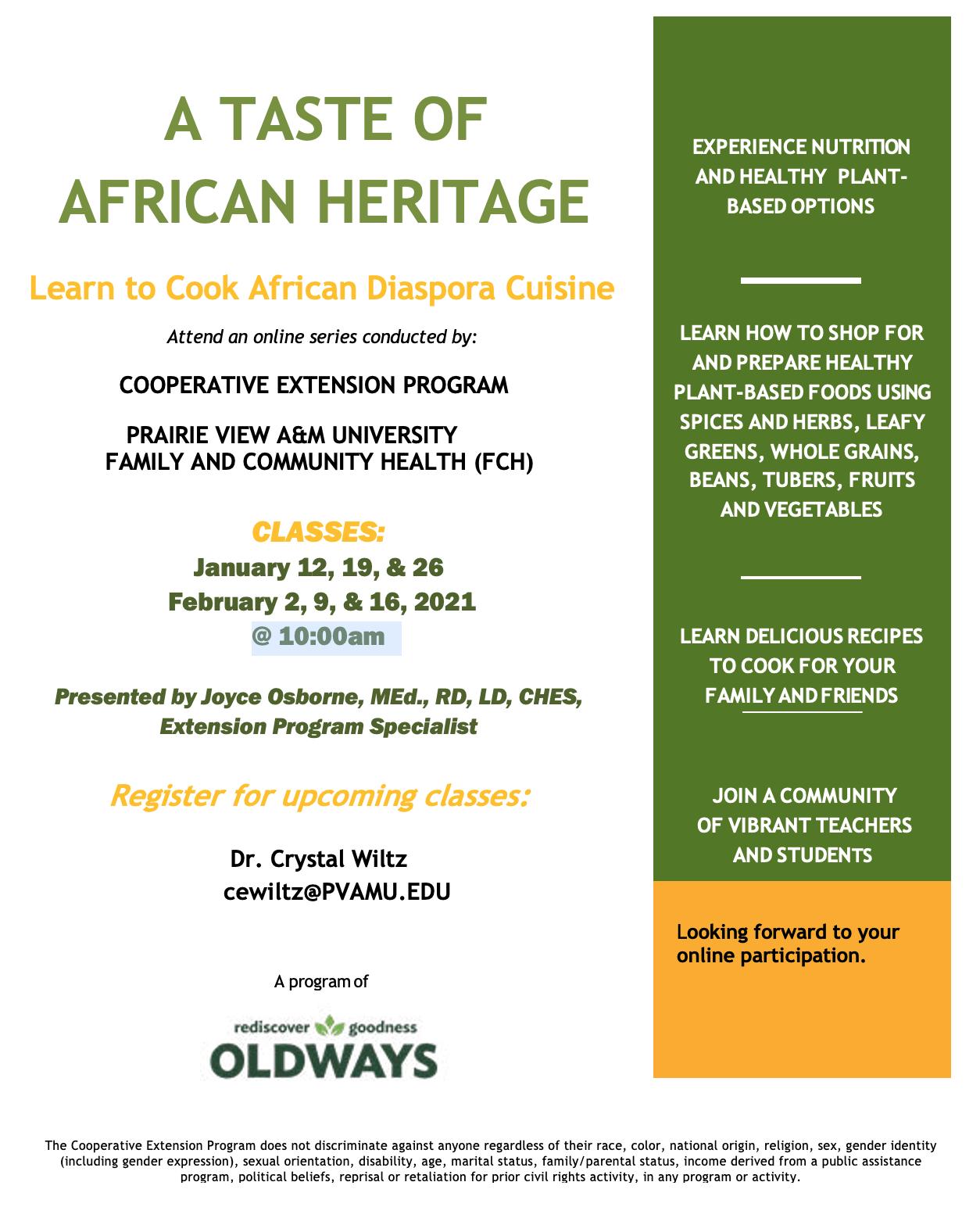 Taste of African Heritage Flyer