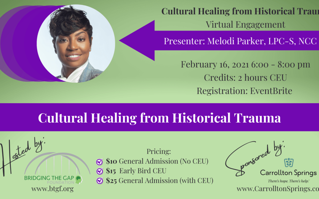 Online Training: Cultural Healing from Historical Trauma 2/16